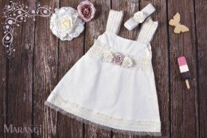 Βαπτιστικό χειροποίητο φορεματάκι