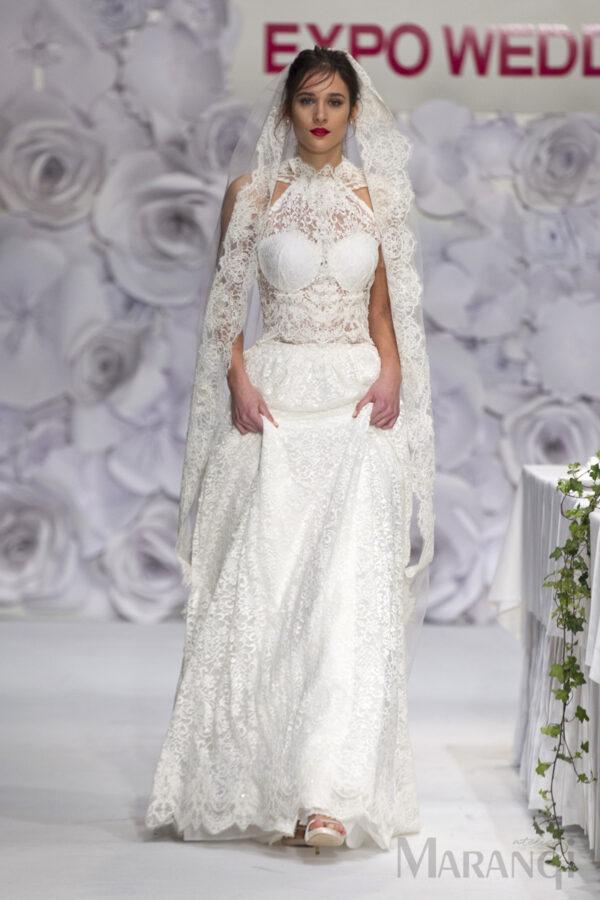 Νυφικό Φόρεμα Crop Top - 1001