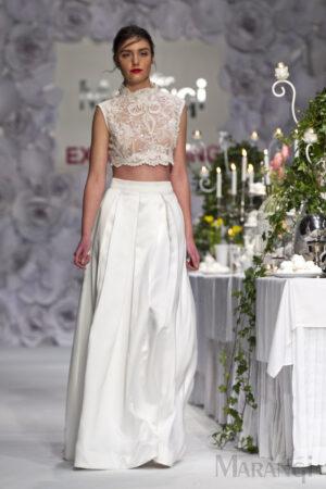 Νυφικό Φόρεμα Crop Top - 1002