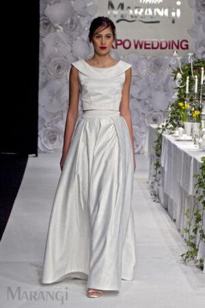 Νυφικό Φόρεμα Crop Top - 1003