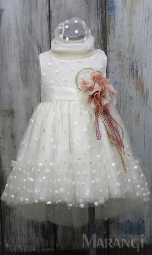 βαπτιστικο φορεμα τουλι
