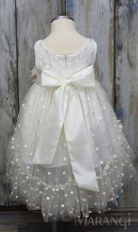 φορεματακι βαπτιστικο τουλι πουα